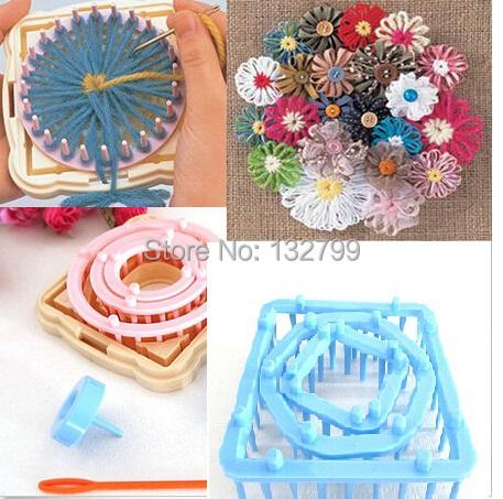 9pcs/set Flower Knitting Loom Knit Wool Yarn Needle Home Craft Daisy Pattern Crochet Maker Needlework()