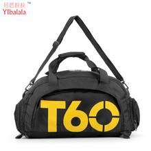 2016 New Brand Women Gym Bags T60 Waterproof Outdoor Men luggage/travel Bag/ Backpack Multifunctional Sport Bag Green Duffle Bag(China (Mainland))