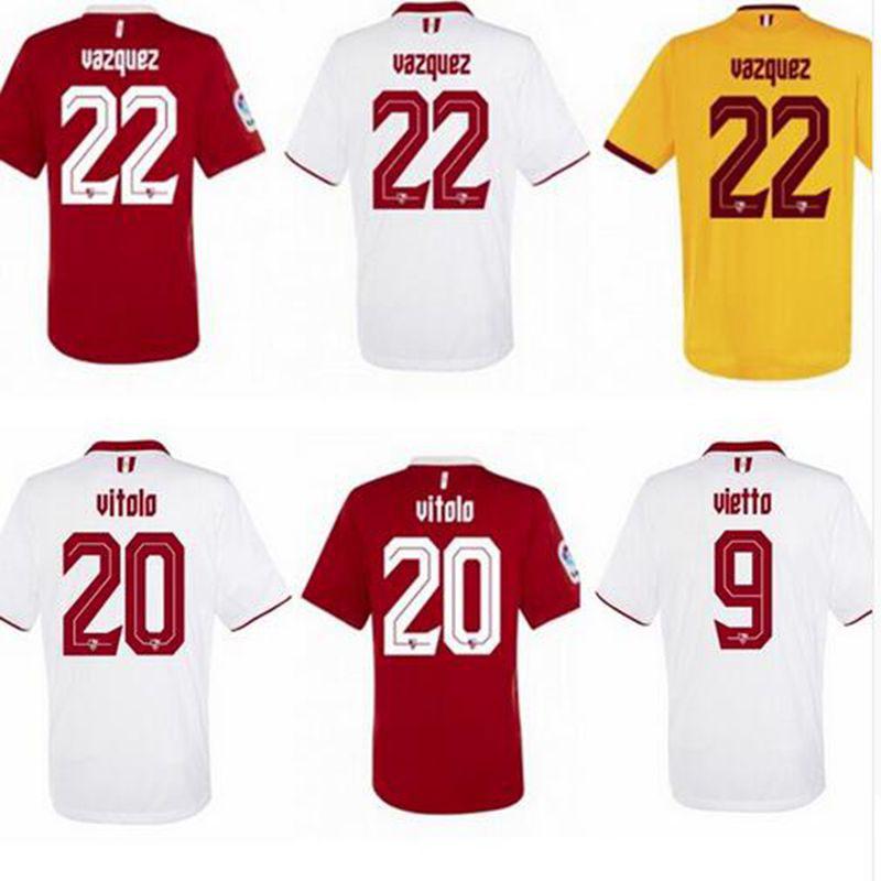 Sevilla fc 16/17 Home and Away soccer football jersey nieuwe en thuis sevilla Jersey sevilla shirt Top shirts in stock(China (Mainland))