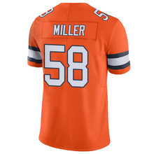 Men's #58 Von Miller 13 Trevor Siemian Jerseys Orange Color Rush Limited Jersey Embroidery Logos and 100% Stitched Free Shipping(China (Mainland))