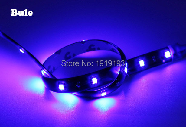 1PCS NEW Arrival SMD5050 30cm 12 Neon Flexible Waterproof LED Strip Bar Light Motor Truck Car Decoration