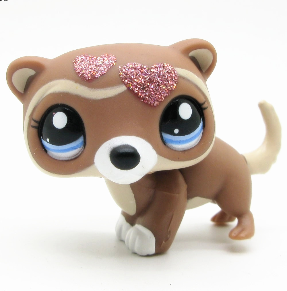 LPS cute toys Lovely Pet shop animal love heart ferret action figure doll(China (Mainland))