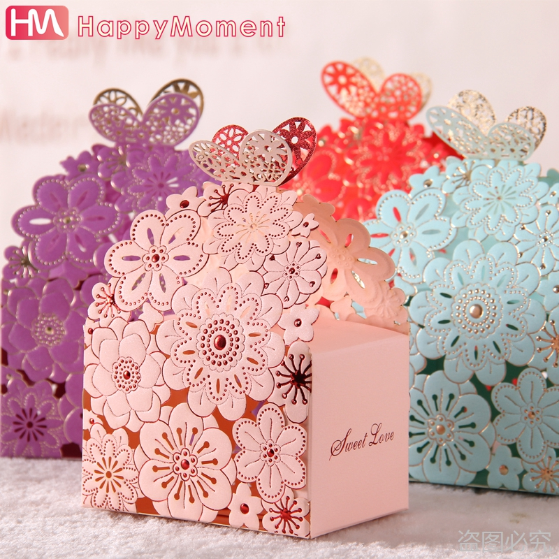 10pcs/lot Pink blue Baby Shower Paper Box Favour Gift Candy Boxes Ribbon Wedding Favor Best Candy Box(China (Mainland))