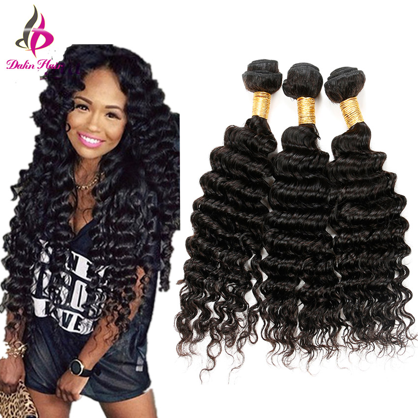 Premium Now Hair Brazilian Deep Wave 3 Bundle Weaves Cheap 6A Unprocessed Brazilian Deep Curly Hair Extensions Tight Curly Weave(China (Mainland))