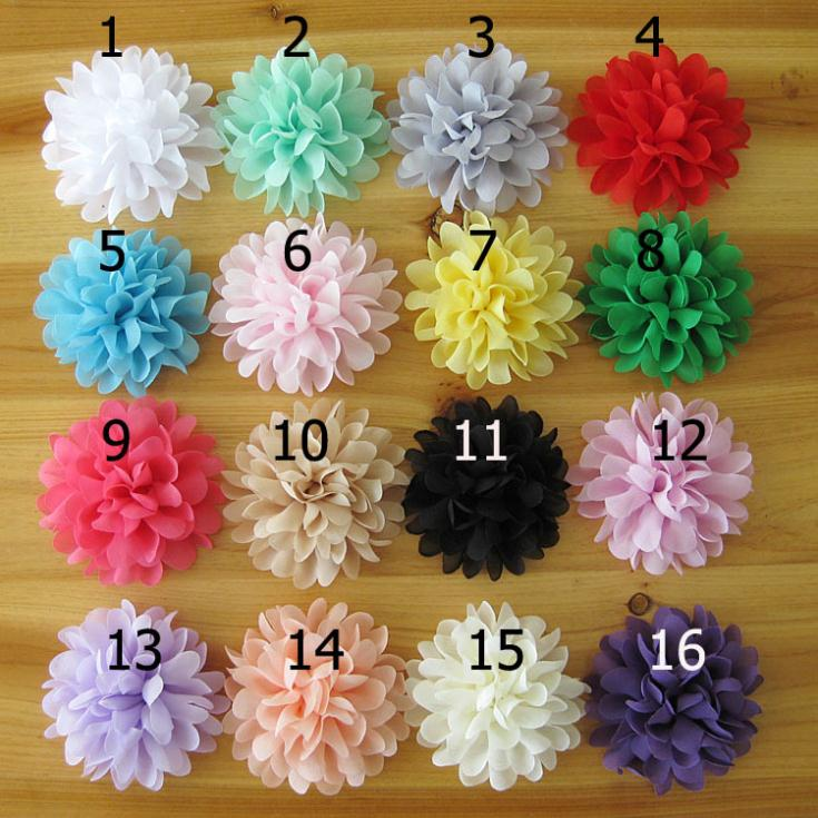 wholesale new infant fabric flowers for headbands handmade ...