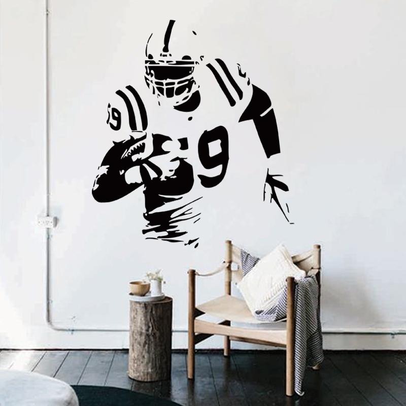 achetez en gros rugby wall sticker en ligne 224 des rugby field room art sticker stickythings co za