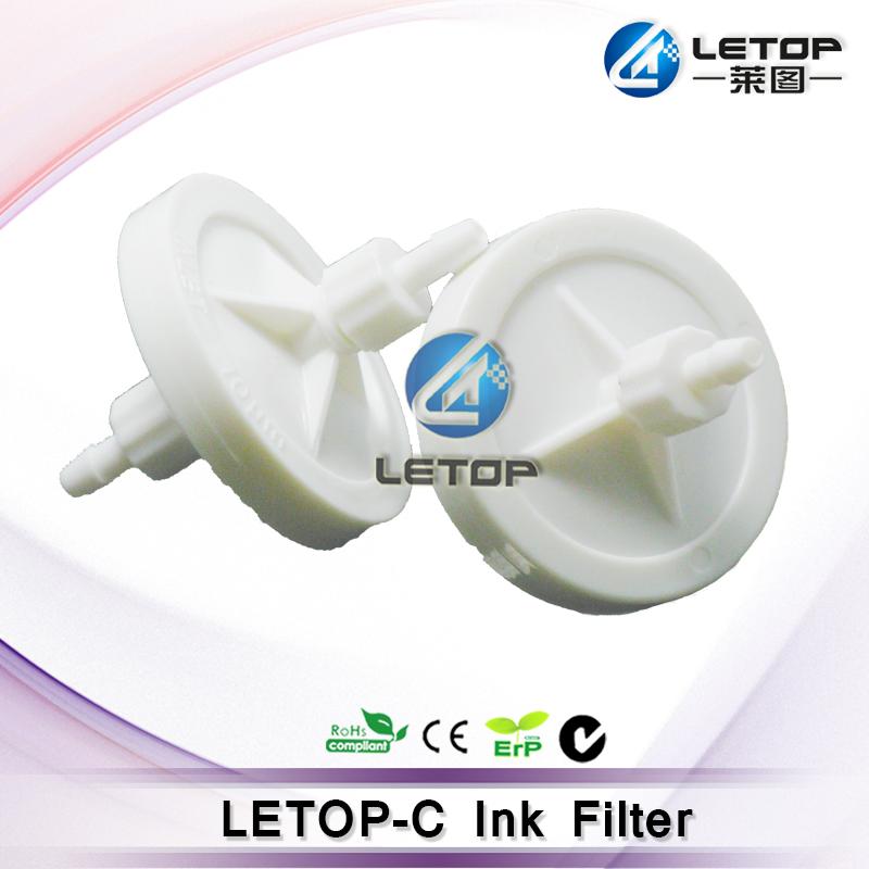 crystaljet seiko head solvent printer ink filter white 45mm ink filter(China (Mainland))