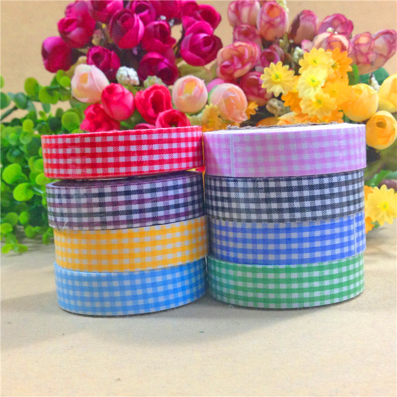 Check Washi Sticky Paper Masking Adhesive Decorative Tape Scrapbooking DIY VC763 P<br><br>Aliexpress