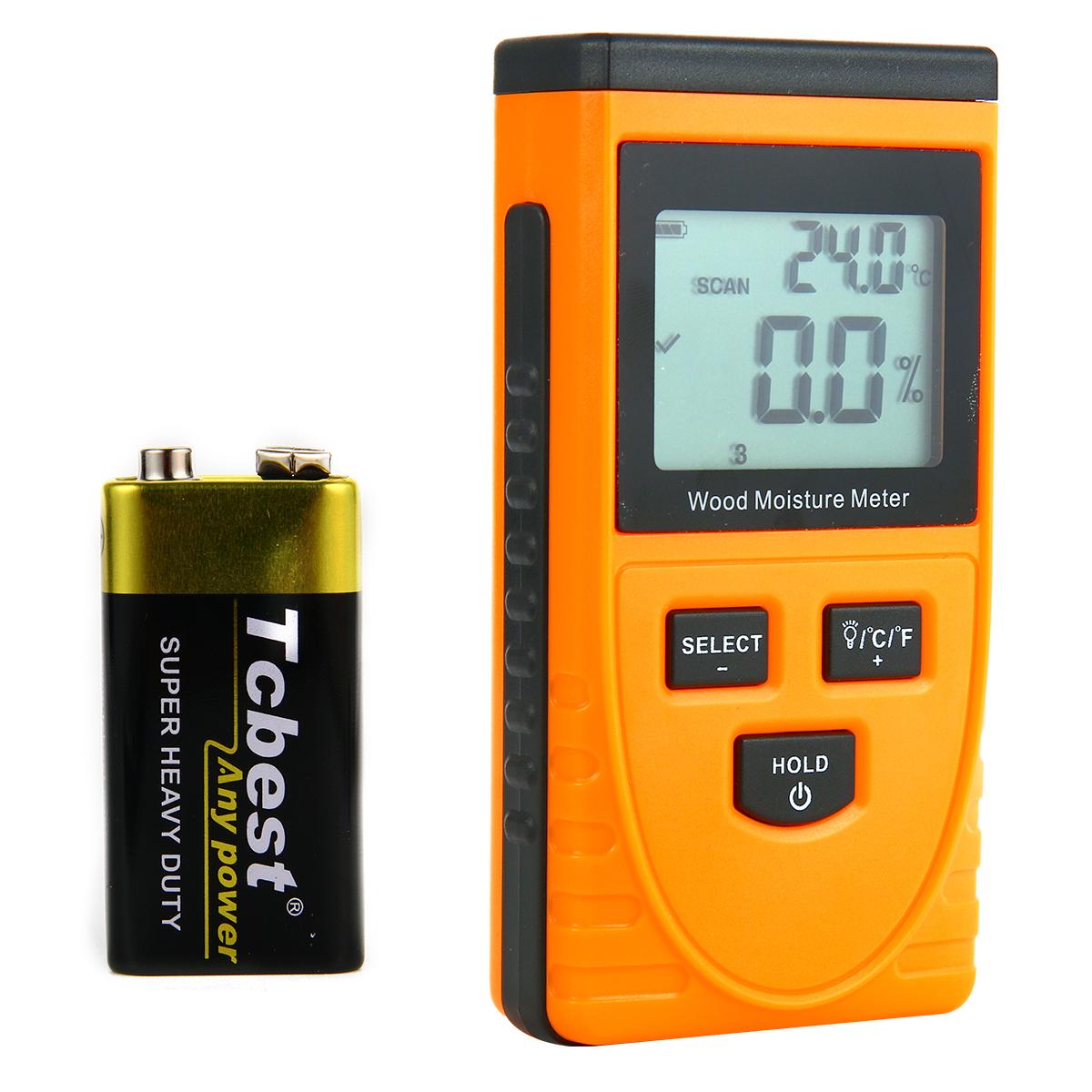 Wood Moisture Tester Digital Humidity Meter Detector Temperature Timber TE324(China (Mainland))