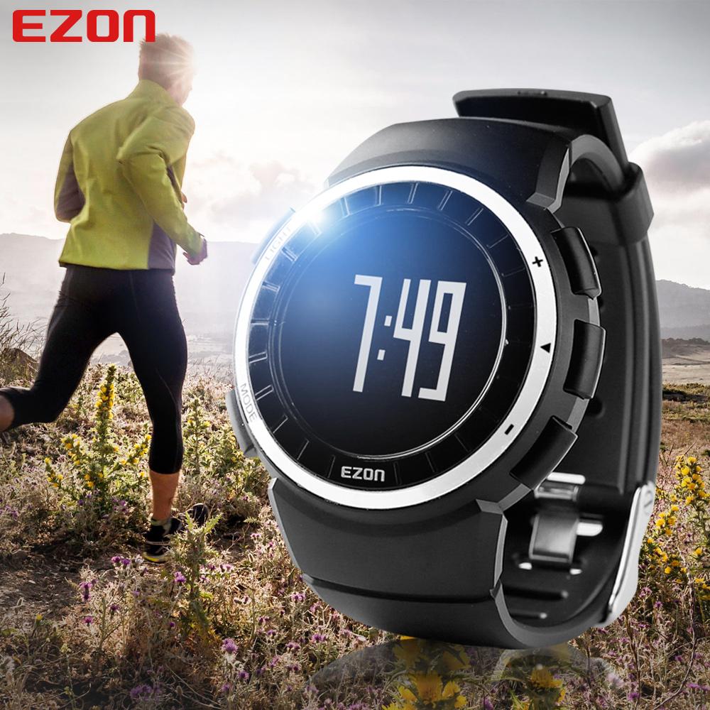 2016 Men Women Sports Outdoor Waterproof GYM Running Jogging Fitness Pedometer Calories Counter Digital Watch EZON T029(China (Mainland))