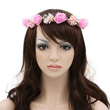 Ladies Womens Gilrs Flower Headband Wreath Headdress Garland Wedding Bridal Hair Accessories 5XDG