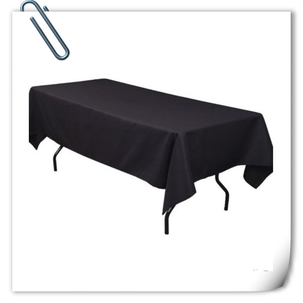 Big Discount !!! 10pcs 150*320cm Rectangle Black table cloth 180GSM For Wedding Events &Hotel & Banquet Free shipping(China (Mainland))