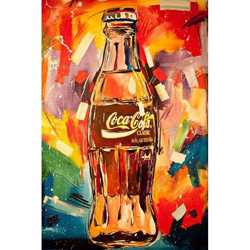 hand painted oil painting Banksy Graffiti Street Art canvas pop Graffiti street art on canvas Coke Bottlewith multiple colors(China (Mainland))