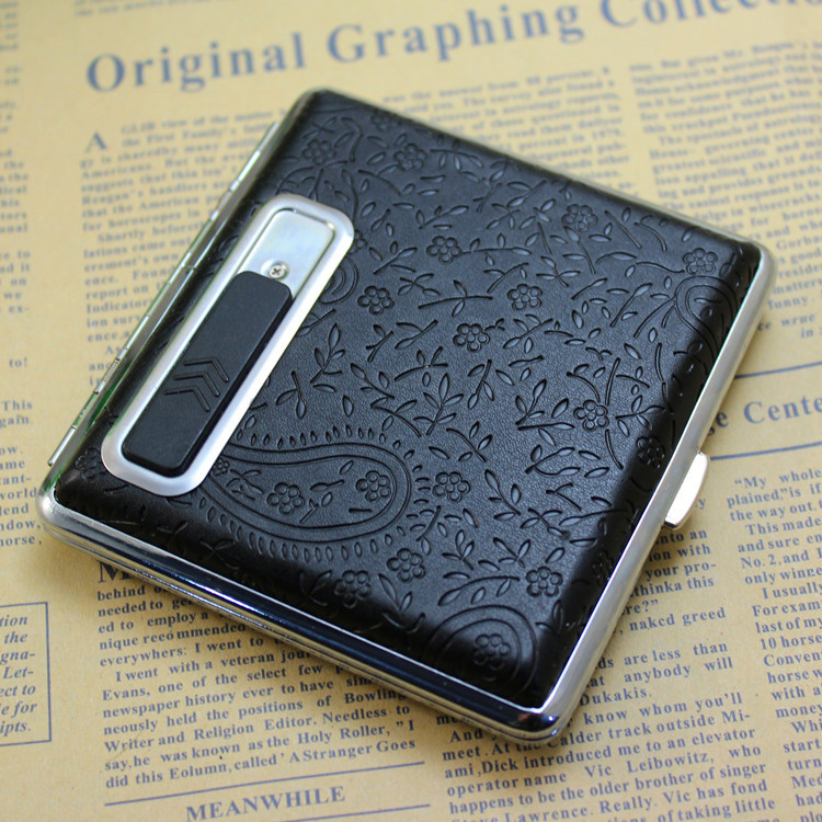 cigarette case kerosene lighter charge usb rechargeable battery holiday gifts free personality boy smokers hot light