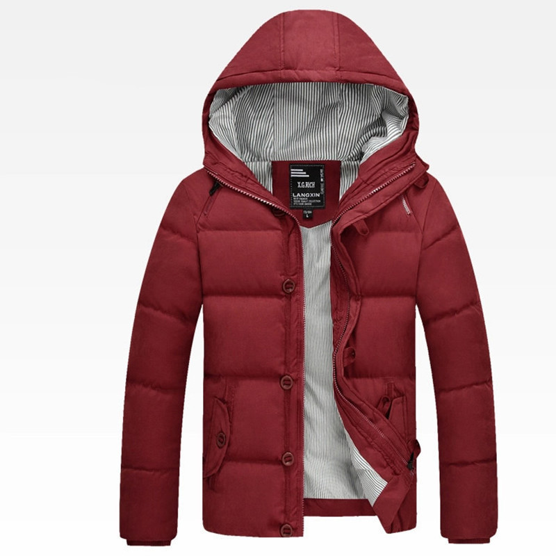 Parkas Men Winter Coat 2015 New Fashion Hooded Chaqueta Hombre Zipper Thick Slim Fit Casaco Masculino