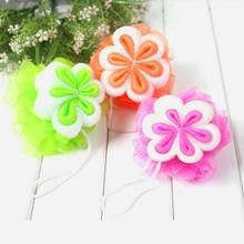 Creative comfortable queen rich foam massage boutique flower shape can hang bath flower bath ball bath rub(China (Mainland))