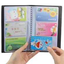 1 Pc Portable 120 Cards Leather Business Name ID Credit Card Holder Keeper Organizer Book#ZH275