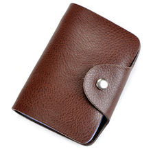 Wholesale Fashion Men card holder leather women credit card holders solid casual card case cowhide credit card bag(China (Mainland))