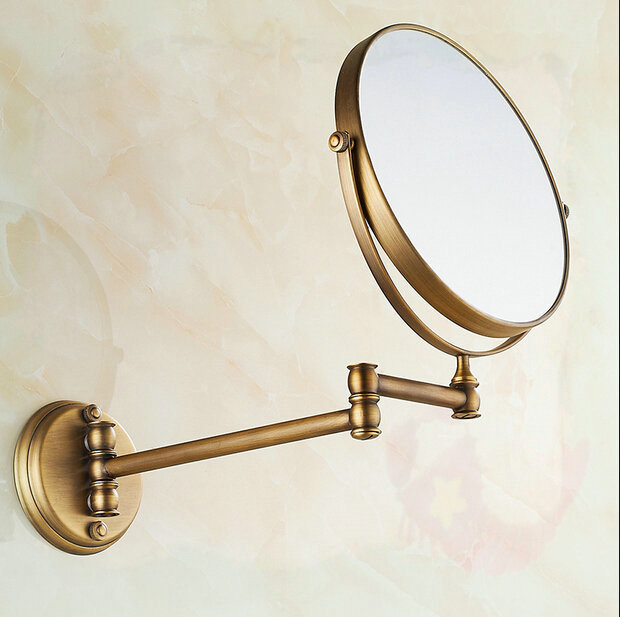 "8"" Bathroom antique brass mirrors Wall mounted folding type wash tub(China (Mainland))"
