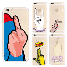 Newest Fashion Girl Middle Finger Phone Case For iPhone 5 5S SE 6 6S 7 Plus 6SPlus Back Cover High Heel shoes Silicone Soft Case(China (Mainland))