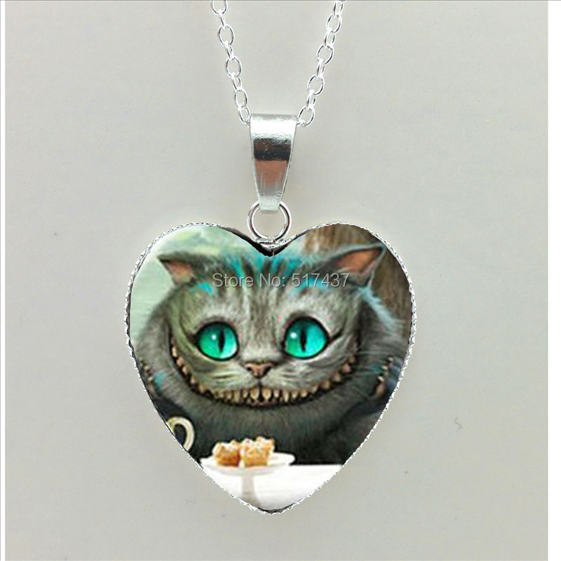 2016 new in necklace cheshire cat
