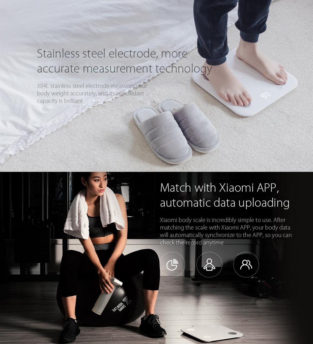 image for Original Xiaomi Mi Smart Body Fat Scale 2 Mifit APP & Body Composition