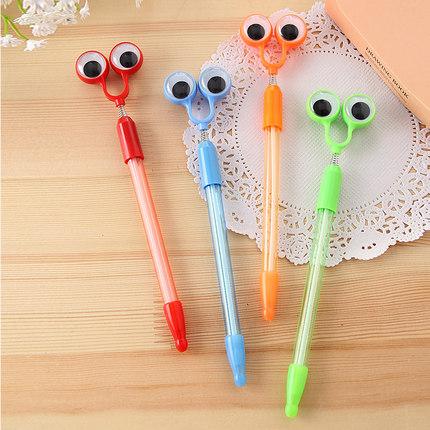 4 Pcs Big Eyes Shape Ballpoint Pen 0.7mm Blue Gift Pen Kandelia Stationery Office School Supplies Caneta escolar(China (Mainland))