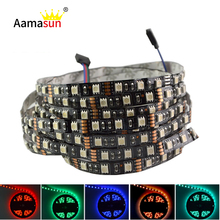 Buy 5M Black PCB 5050 RGB led strip light 12V 300leds Flexible Strip String waterproof led Ribbon Tape Lamp Home Decoration Light for $7.19 in AliExpress store