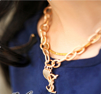 Fashion Brand Y Gold Chain Necklace Letter S Necklaces Pendants Statement Necklace Fashion necklaces for women 2014