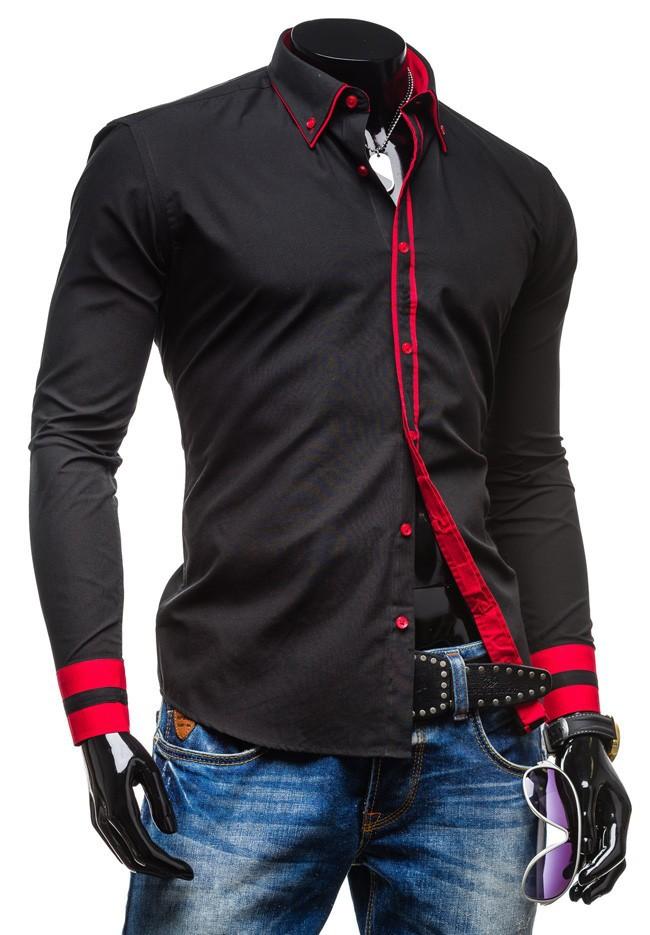camisa, camisa de ajuste vestido delgado de los hombres