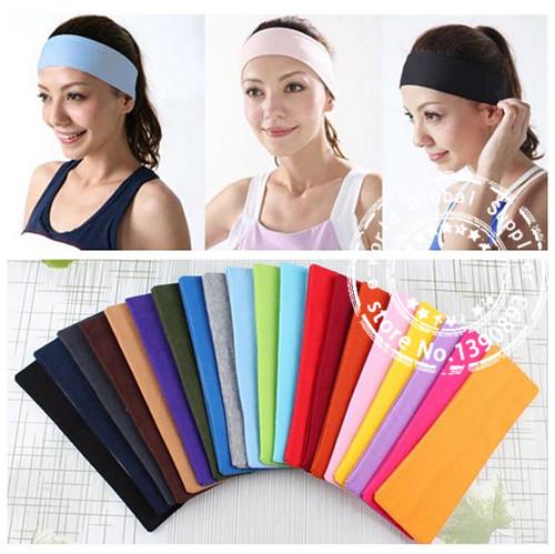 DHL,FEDEX,UPS Free Shipping New 100% Cotton168PCS Yoga Sports Headband Women Stretch Turban Wide Hairband Hair Accessory A3698(China (Mainland))