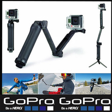 GoPro 3 Way Monopod Arm Mount Adjustable stand Bracket Handheld Grip Tripods For Gopro Hero 4 session 3+ 3 xiaomi yi Accessories(China (Mainland))