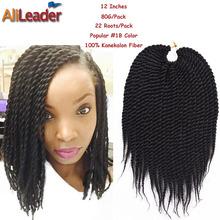 Crochet Hair On Sale : Box Braids Hair Crochet 12 18 Crochet Hair Extensions Syn...
