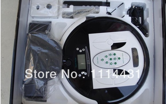 (Free to Russia)Wet And Dry Robot Vacuum Cleaner with Disposable bag ,Dirt detection, Mopping, Self-charging;UV light;(China (Mainland))