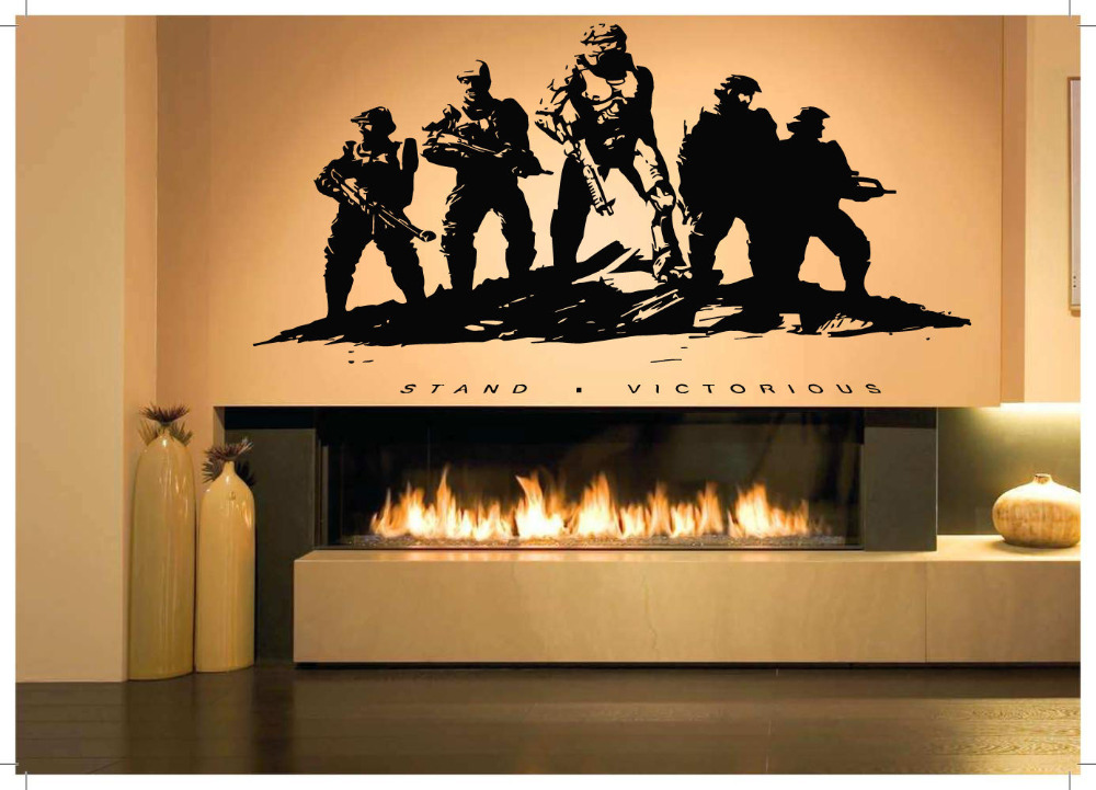 Usaf Wall Decor : Wall room decor art vinyl sticker mural decal military poster soldiers war inch in