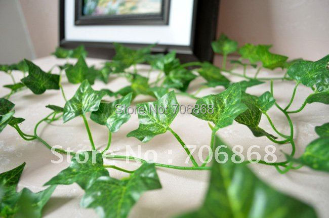 FREE SHIPPING Artificial Hanging Boston ivy Garland Silk Flower Vine Wedding Home Garden Party Decor(China (Mainland))
