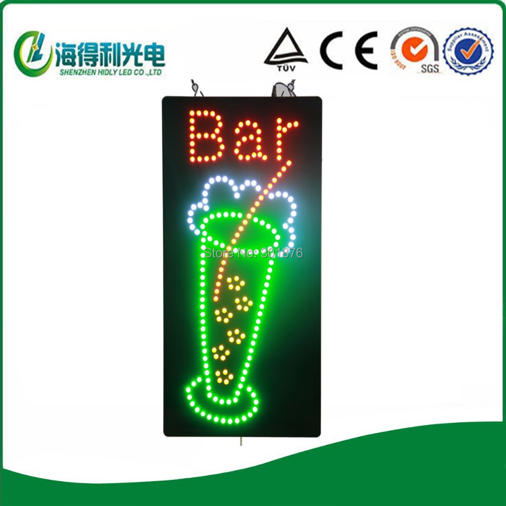 Wholesale high brightness life time over than 100000 hours led open sign /led bar club usage acrylic sign