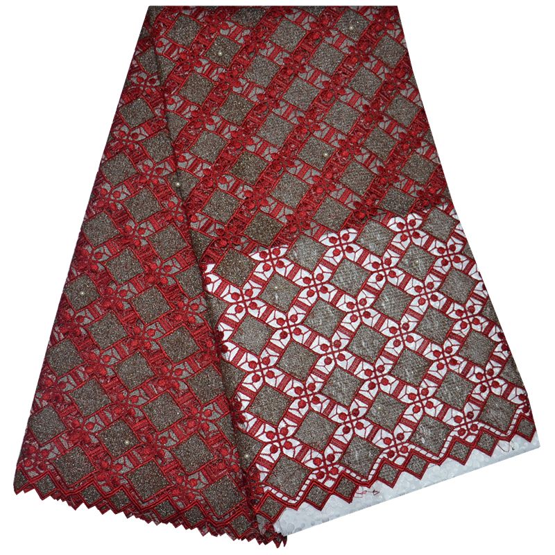Free shipping,African cord lace latest 2015 guipure lace fabric with Different color 5Yards.african cord lace cloth on sale
