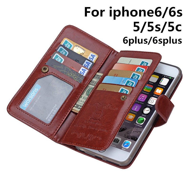 Phone Cases for Apple IPhone6S Phone Bag Case for IPhone6 Housing Card Holder Wallet Coque Multicard Crazy Horse Capa Shell SL12(China (Mainland))