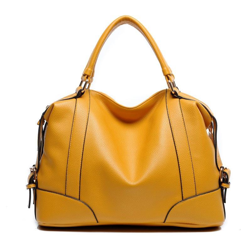 2016 Fashion Trend Boston Women Handbag 6 color Leather Ladies Tote Bag Casual Shoulder Bag Female Elegant Handbags Famous Brand