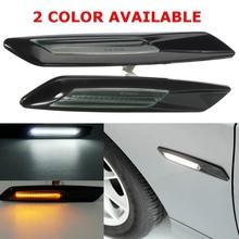 Buy 1 Pair Auto Door LED Side Marker Light BMW E60 E82 E87 E88 E90 E91 Car Source Turn Signal Lamp Amber White for $22.69 in AliExpress store