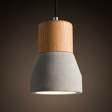The Nordic minimalist retro pendant light Wooden Cement Lighting For Restaurant Bar aisle  Coffee hall (China (Mainland))