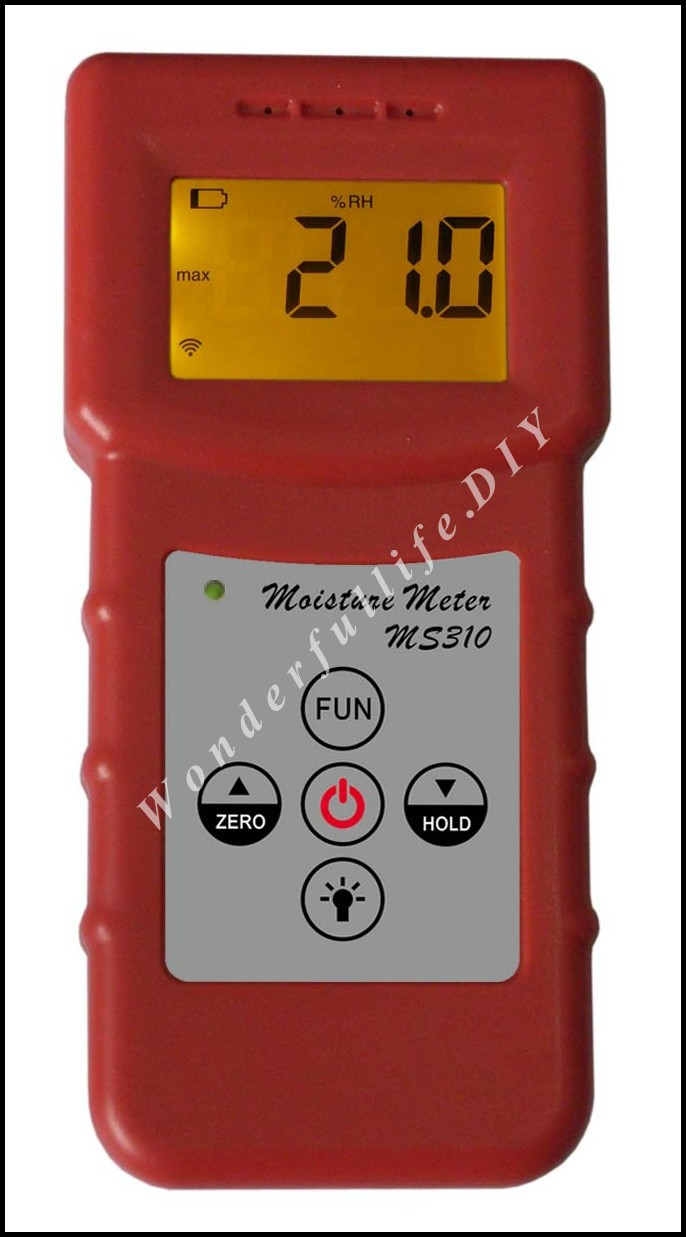 Фотография professional Inductive moisture tester meter measuring moisture content of wood,paper,Bamboo, concrete,metope 3Pcs/Lot MS310