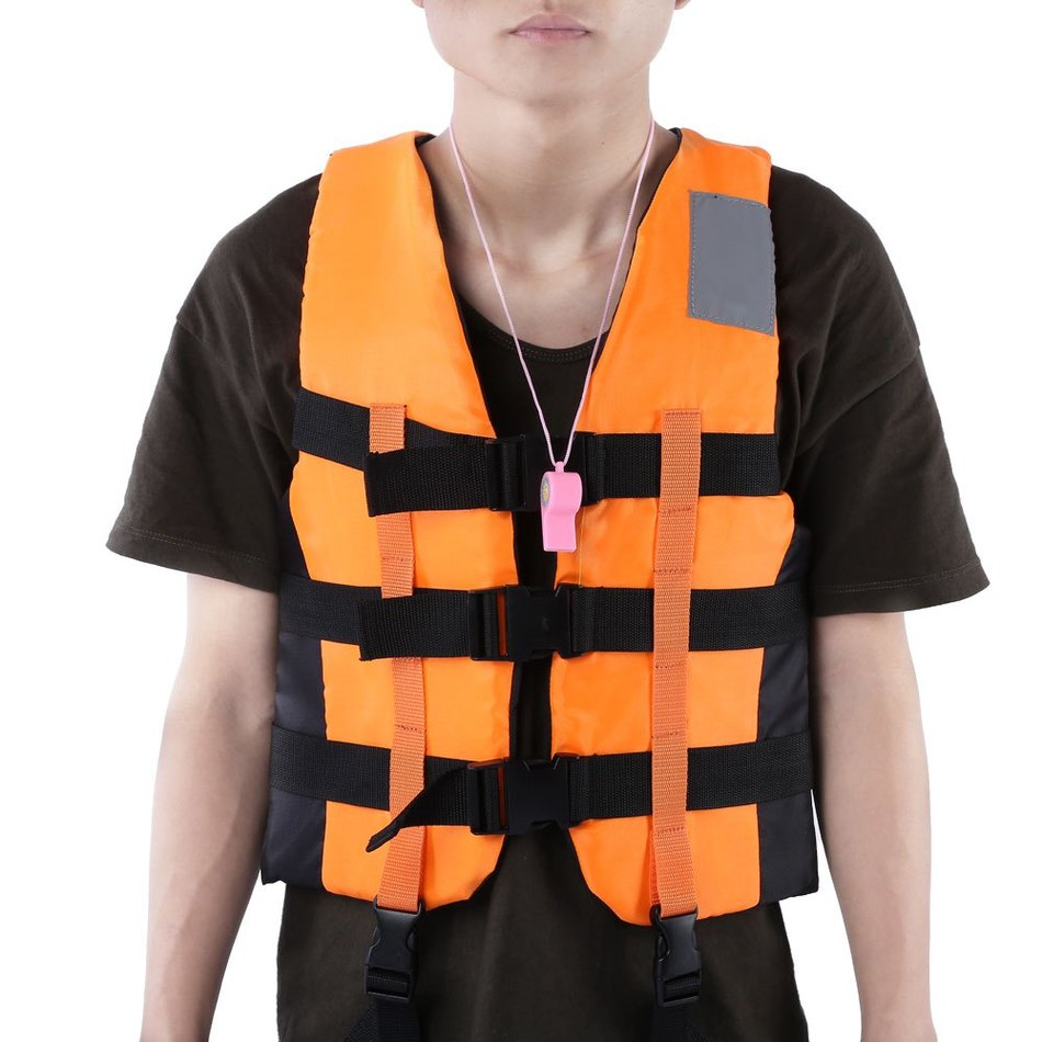 Adult Life Vest PFD Fully Enclose Foam Boating Water Fishing Safety Jackets With Whistle 3 color(China (Mainland))