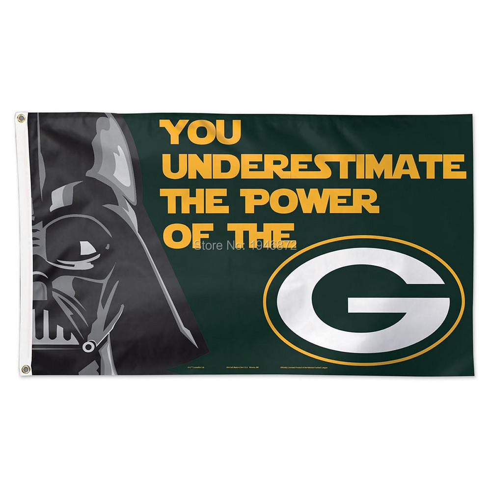 Green Bay Packers Star Wars Large Outdoor Flag 3X5FT Custom Flag(China (Mainland))