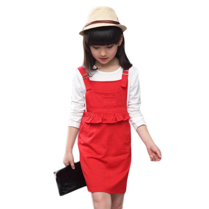 2016 fashion autumn baby dresses clothing set
