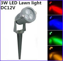 Impermeable IP65 AC12V 3 W LED paisaje Garden Wall Yard estanque inundación del punto de luz decorativa lámpara de césped luz exterior envío gratis(China (Mainland))