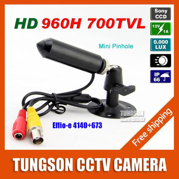 Sony 960H CCD Effio Pinhole 3.7mm Lens 700TVL Micro Video Surveillance Cam Small Bullet Mini CCTV Camera Security Free Shipping(China (Mainland))
