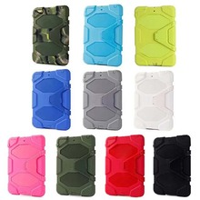 Rugged Hybrid Military Heavy Duty Cover Case For Apple iPad Mini 1 2 3 Retina Case With Kickstand Shockproof PC & Silicone Skin(China (Mainland))