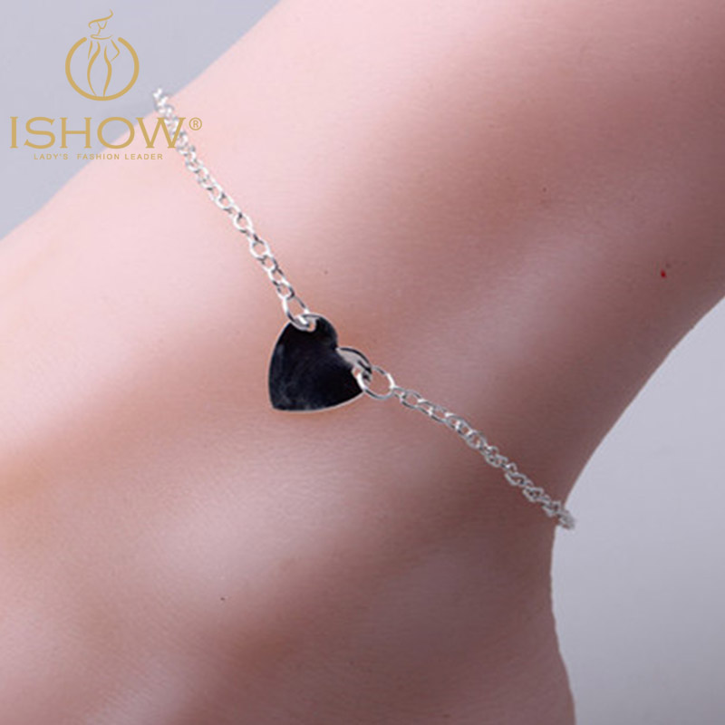 2016 new fashion bijoux de pied femme silver plated ankle chain foot jewelry heart anklet for. Black Bedroom Furniture Sets. Home Design Ideas